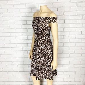 Asos Women's Only Bardot Leopard Print Dress